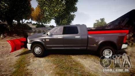 Dodge Ram 3500 Plow Truck [ELS] para GTA 4 esquerda vista