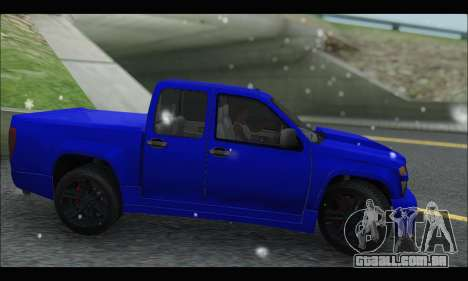 Chevrolet Colorado Codered 2004 para GTA San Andreas esquerda vista