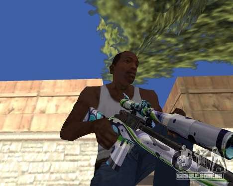 Graffity weapons para GTA San Andreas por diante tela