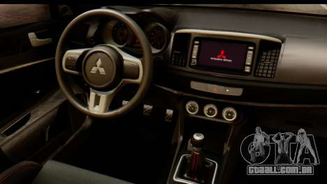 Mitsubishi Lancer Evolution FQ-400 V2 para GTA San Andreas vista traseira