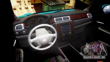 Chevrolet Tahoe 2013 Game Warden [ELS] para GTA 4 vista de volta