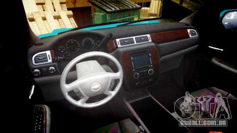 Chevrolet Tahoe 2013 County Sheriff [ELS] para GTA 4 vista de volta