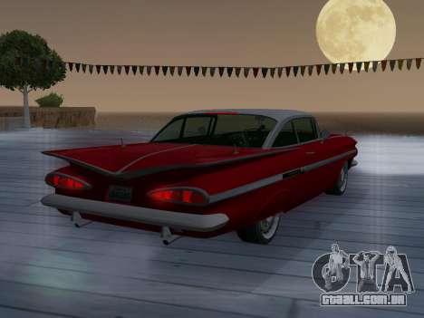 Chevrolet Impala 1959 para GTA San Andreas vista superior