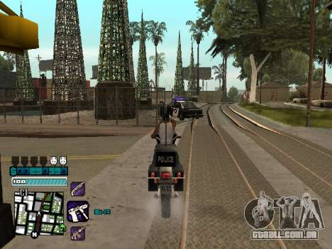 Beautiful C-HUD para GTA San Andreas por diante tela