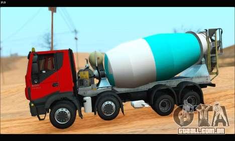 Iveco Trakker 2014 Concrete (IVF & ADD) para GTA San Andreas esquerda vista