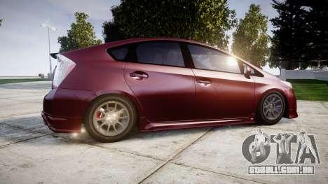Toyota Prius para GTA 4 esquerda vista