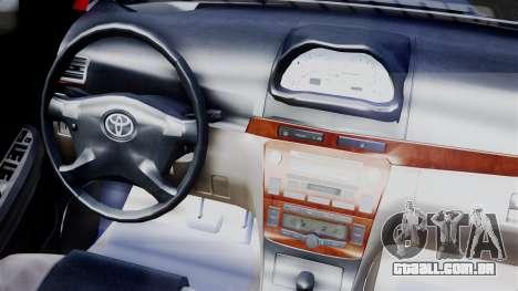 Toyota Vios TRD Racing v2 para GTA San Andreas vista direita