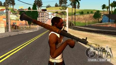 Rocket Launcher from GTA 4 para GTA San Andreas terceira tela