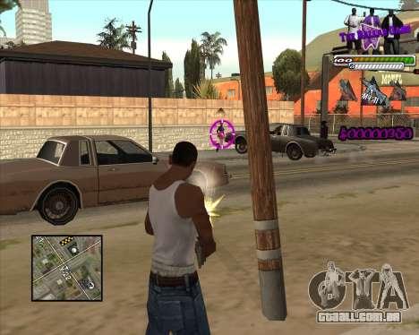 C-HUD for Ballas para GTA San Andreas