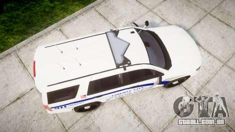 Chevrolet Tahoe 2015 LCPD [ELS] para GTA 4 vista direita