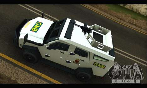 Oshkosh Sand Cat GNB para GTA San Andreas vista interior