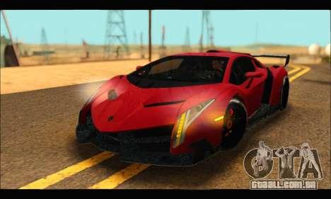 Lamborghini Veneno 2013 HQ para GTA San Andreas vista traseira