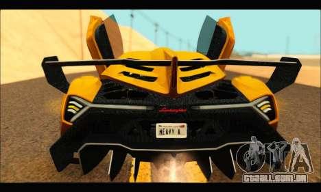 Lamborghini Veneno 2013 HQ para GTA San Andreas traseira esquerda vista