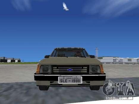 Chevrolet Chevette Hatch para GTA San Andreas traseira esquerda vista
