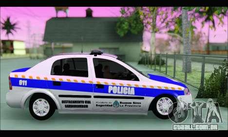 Chevrolet Astra Policia Vial Bonaerense para GTA San Andreas esquerda vista