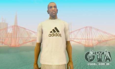 Adidas Shirt White para GTA San Andreas terceira tela
