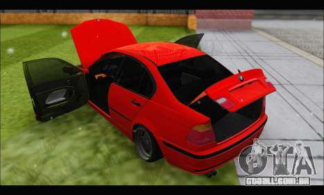 BMW e46 Sedan V2 para vista lateral GTA San Andreas