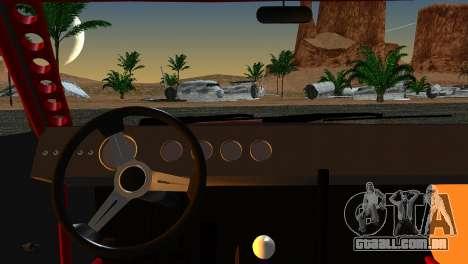 Dodge Charger Daytona para GTA San Andreas traseira esquerda vista