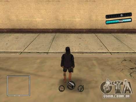 C-HUD Azure para GTA San Andreas segunda tela