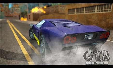 Vapid Bullet Gt (GTA IV) (LC Plate) para GTA San Andreas traseira esquerda vista