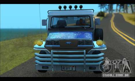 Jeepney from Binan para GTA San Andreas vista traseira
