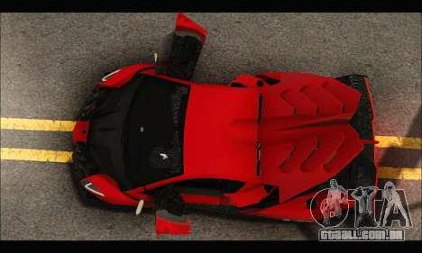 Lamborghini Veneno 2013 HQ para GTA San Andreas vista superior