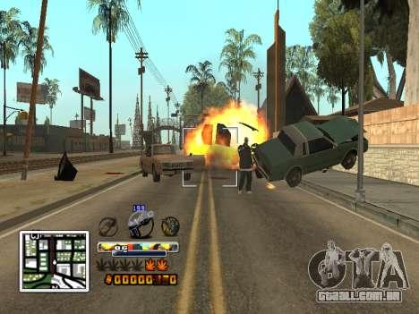 C-HUD Cor (melhor) para GTA San Andreas quinto tela