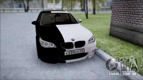 BMW M5 E60 para GTA San Andreas vista traseira