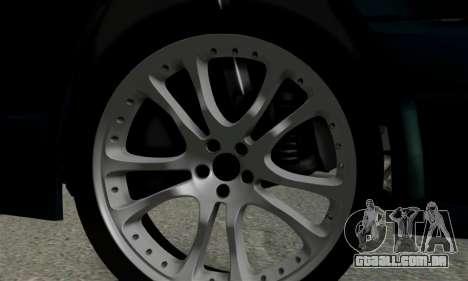 Mercedes-Benz W124 BRABUS V12 para GTA San Andreas vista traseira