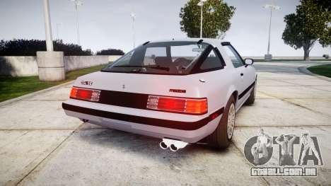 Mazda RX-7 1985 FB3s [EPM] para GTA 4 traseira esquerda vista