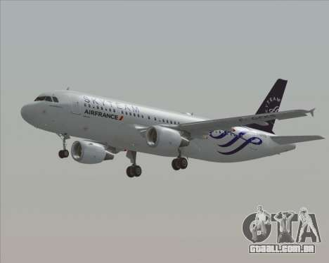 Airbus A320-200 Air France Skyteam Livery para vista lateral GTA San Andreas