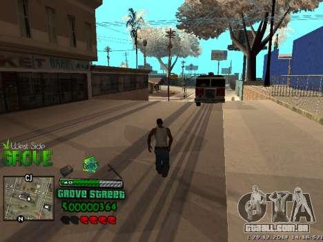 C-HUD Grove Street para GTA San Andreas sétima tela