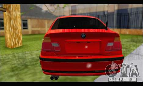 BMW e46 Sedan V2 para GTA San Andreas vista traseira