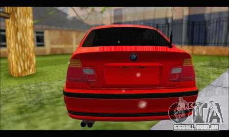 BMW e46 Sedan V2 para GTA San Andreas vista traseira