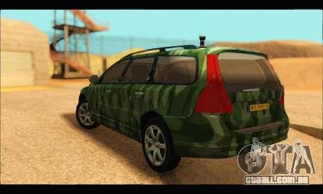 Volvo V70 Camo para GTA San Andreas esquerda vista