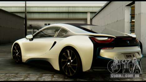 BMW I8 2013 para GTA San Andreas esquerda vista