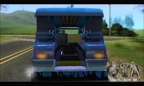 Jeepney Morales para GTA San Andreas vista direita