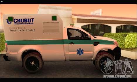 Ford Ranger 2013 Ambulancia Chubut para GTA San Andreas esquerda vista