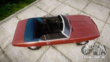 Chevrolet Camaro Mk.I 1968 rims1 para GTA 4 vista direita