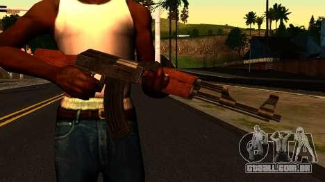 AK47 from GTA 4 para GTA San Andreas terceira tela