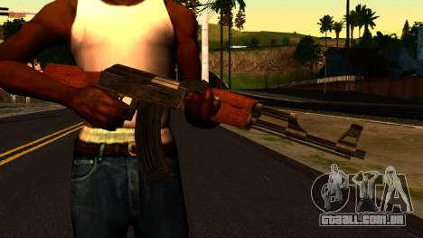 AK47 from GTA 4 para GTA San Andreas