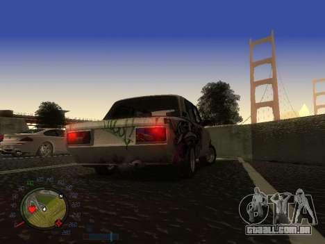 VAZ 2105 Enferrujado calha para GTA San Andreas vista interior