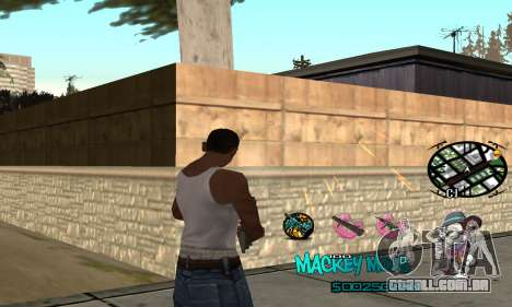 C-HUD Mickey Mouse para GTA San Andreas segunda tela