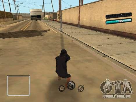 C-HUD Azure para GTA San Andreas terceira tela