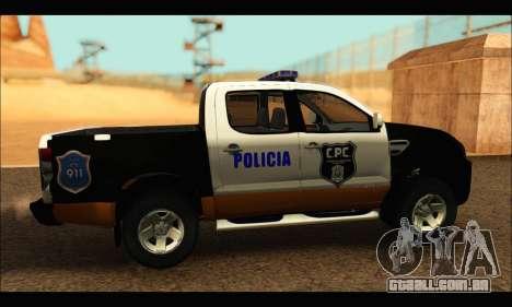 Ford Ranger P.B.A 2015 Text3 para GTA San Andreas traseira esquerda vista