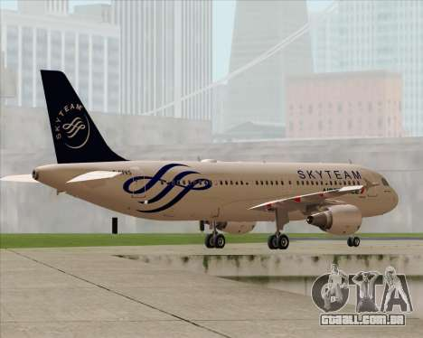 Airbus A320-200 Air France Skyteam Livery para o motor de GTA San Andreas