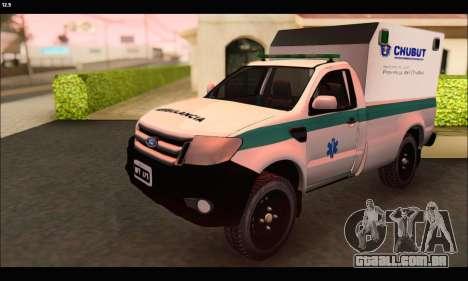 Ford Ranger 2013 Ambulancia Chubut para GTA San Andreas