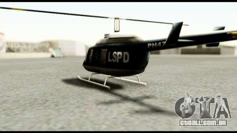 Beta Police Maverick para GTA San Andreas traseira esquerda vista
