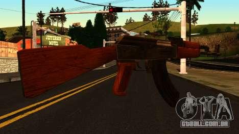 AK47 from GTA 4 para GTA San Andreas segunda tela