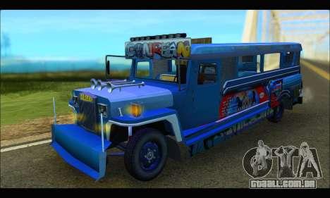 Jeepney Morales para GTA San Andreas